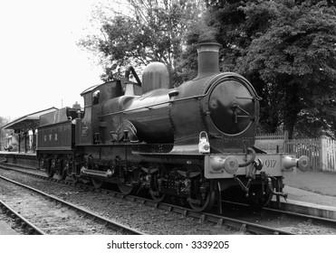 Vintage British steam train