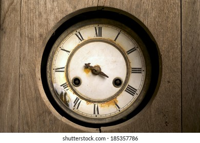 vintage broken wall clock