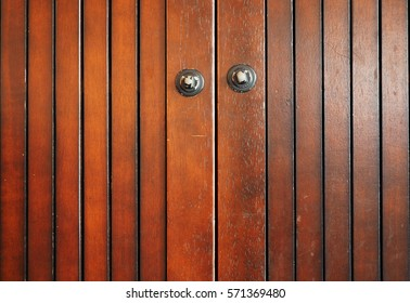 The vintage brown old rustics grunge texture of cupboard, stripped wooden surface background.