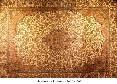The vintage brown persian carpet as background