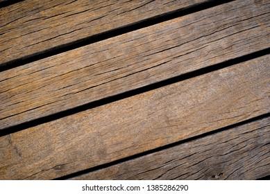 Vintage Brown Wooden Board Background