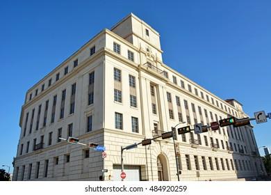 Vintage building at San Antonio city, Texas