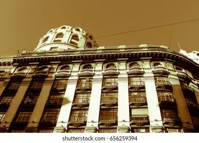 Vintage Building in Sepia