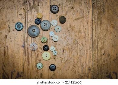 Vintage buttons, background, retro, texture