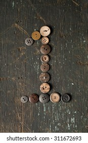 Vintage Buttons in the Number 1