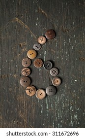 Vintage Buttons in the Number six