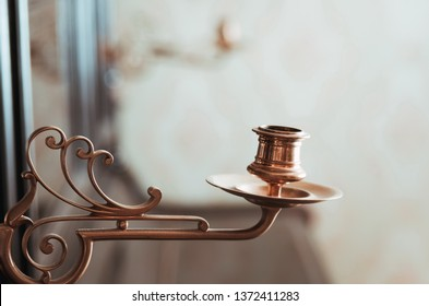 Vintage candelabrum on the piano