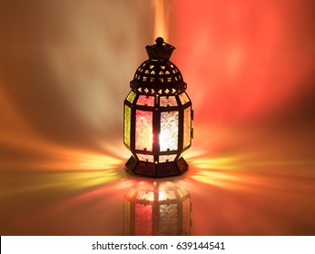 vintage candle lantern  in arabic style, use in ramadan kareem night, and in islamic festival
