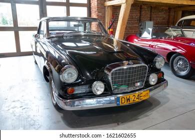 Vintage car Studebaker Gran Turismo Hawk in the Museum Topacz near Wroclaw, Poland, 12-29-2019