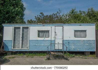 Vintage caravans on a trailer park in Amsterdam the Netherlands