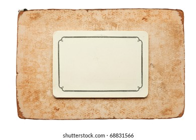 vintage card isolated on white background