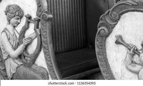 Vintage carousel bench seat