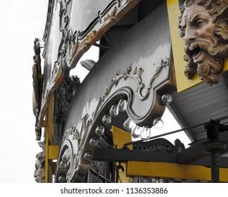 vintage carousel gargoyle art