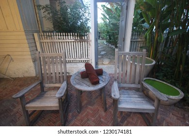 vintage chair garden wood relax