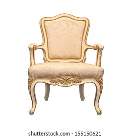 vintage chair isolated white background