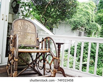 Vintage chair on the porch