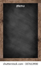 vintage chalk board texture with old vintage wooden frame for design element