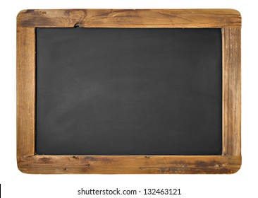 Vintage Chalkboard Isolated On White. Horizontal or Vertical alternative.