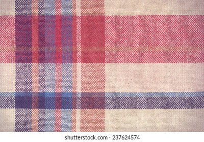 vintage checked fabric texture