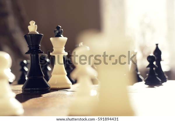vintage chess, meeting kings, presidents meeting