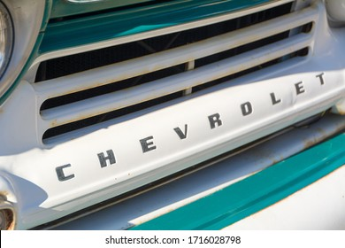 Vintage Chevrolet Front Grill on White.