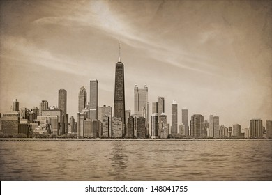 Vintage Chicago Design (With Dust and Scratches Texture Effect)