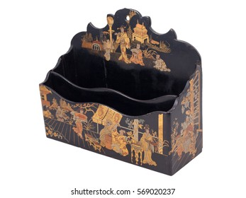 Vintage Chinese Wooden Paper Box