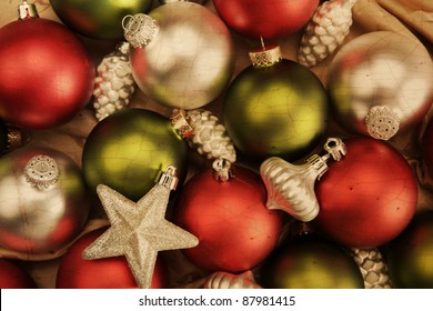 Vintage Christmas Ornament Background