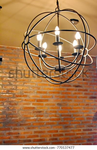 Vintage Circle Shape Lamp Made By Stock Photo Edit Now 770137477