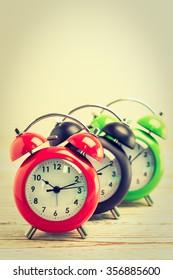 Vintage Classic Alarm clock - Vintage filter processing style