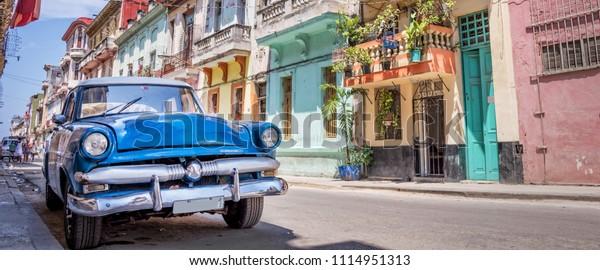 Vintage-Klassikwagen in Havanna, Kuba
