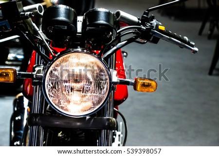 Vintage Classic Motorcycle Headlight Stock Photo Edit Now