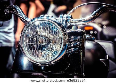 Vintage Classic Motorcycle Headlight Head Lamp Stock Photo Edit Now