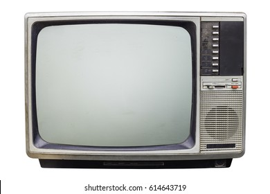Vintage Classic  Retro Style old  television,old  television on  isolated background.