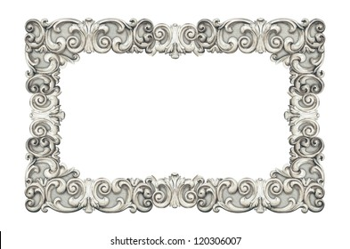 vintage classical frame isolated