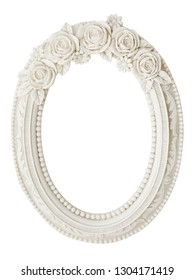 vintage classical white oval frame