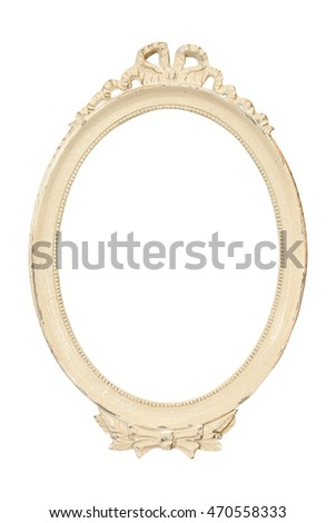 Vintage Classical White Oval Frame Stock Photo (Edit Now) 470558333 ...