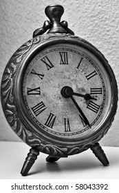 Vintage clock in black and white