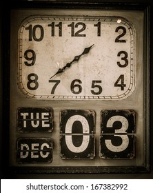 Vintage clock with a calendar
