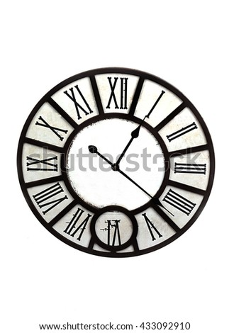 vintage clock face template hour minute stock photo edit now