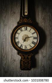 Vintage clock hanging