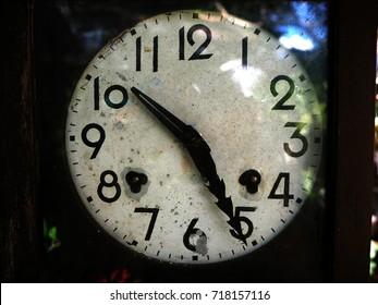 Vintage Clock pendulum close up