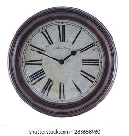 Vintage Clock with Roman Numerals