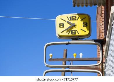 Vintage Clock Street Sign