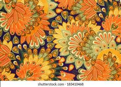 Vintage cloth pattern close up background.