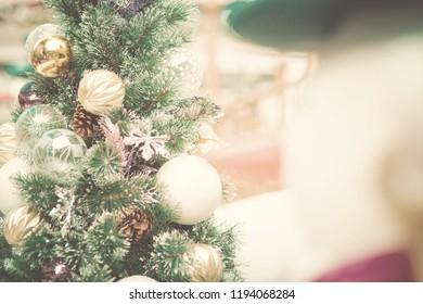 Vintage color bokeh Christmas  background