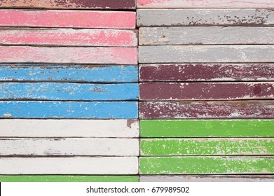 Vintage Color Wood Wall Texture for text and background