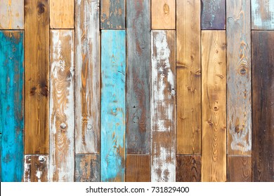 Vintage color wooden background as texture