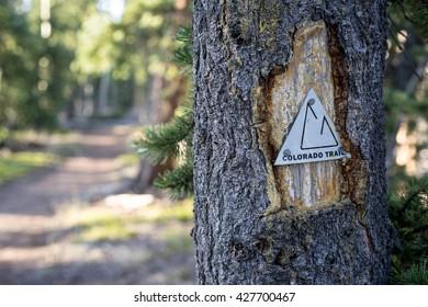Vintage Colorado Trail Marker