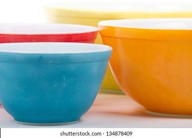 Vintage Colored Bowls